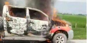 batubara mobil dinas tebakar tol tebing medan