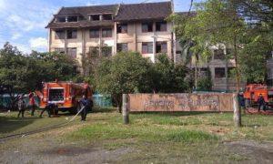 gedung asrama usu terbakar