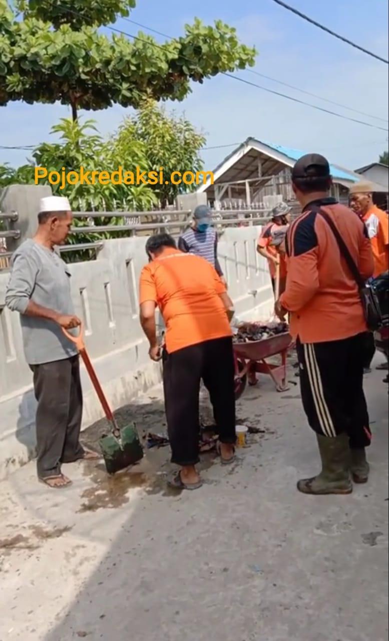 batu bara gotong royong desa
